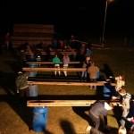 Scouts verven nieuwbouw